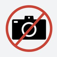 No photo sign on white background