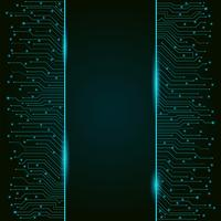 Circuit board, vertical high-tech technology banner, background texture