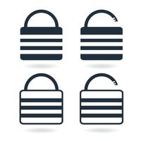 Creative Lock Icon in trendy flat style isolated on white