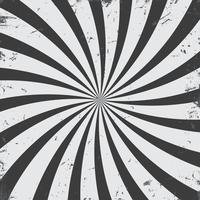 Monochrome radial rays grunge background vector