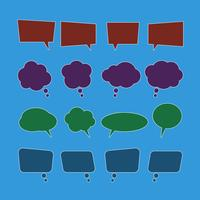 Vecteur série d'icônes de bulle de dialogue