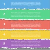 Opciones de papel rasgado vector infografía plantilla