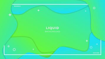 Abstract liquid background with simple shapes with trendy gradients composition