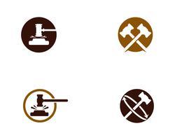 Ejemplo del diseño del icono del vector de la corte del martillo