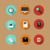 Set of flat vector bussines icons