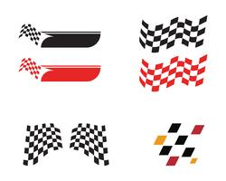 Race flaggikon, enkel design race flagglogo