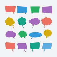 Colored speech bubble icons set vector