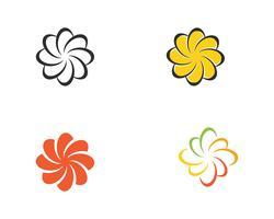 Flores de ícone de plumeria beleza design ilustração