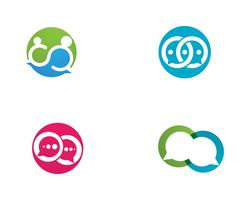 Bolla chat logo vettoriale