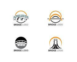 Logotipo de ponte e construção de modelo de vetor de símbolo