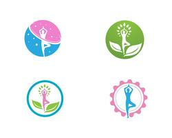 Yoga health logo vector template
