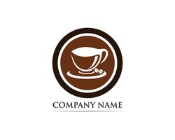 Coffee cup Logo Template vector icon