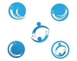 Splash water blauw natuur logo