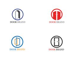 door logo vector template illustration