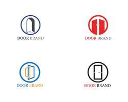 ilustração de modelo de vetor de logotipo de porta