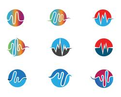 sound wave ilustration logo vector icon