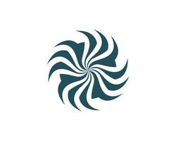 Plantilla de logo y símbolos de círculo vórtice