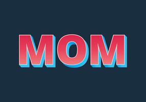 Tipografía de mamá