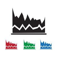 ícone de gráfico sinal de símbolo