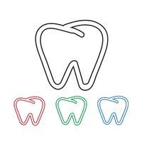Sinal de símbolo de ícone de dente