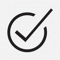 Korrekt ikon symbol tecken