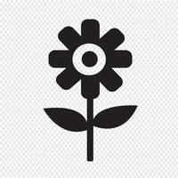 Icono de la flor símbolo de signo