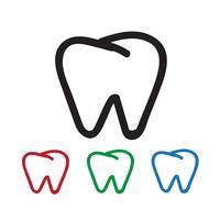 Segno di simbolo dell'icona del dente