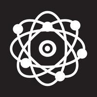 icono de átomo símbolo de signo