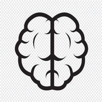 Cervello icona simbolo segno