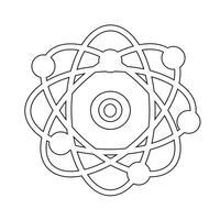 atom  icon  symbol sign