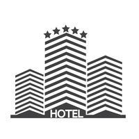 Icono de hotel símbolo signo