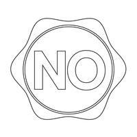 no button  symbol sign