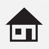 Signe de symbole icône maison