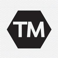 trademark button  symbol sign