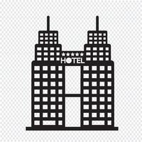 Hotel Icon symbool teken