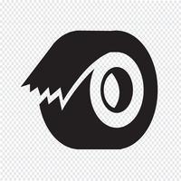 icono de cinta símbolo de signo vector