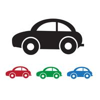 Sinal de símbolo de ícone de carro