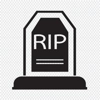 Grave Icon symbol tecken