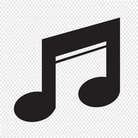 Sinal de símbolo de ícone de música