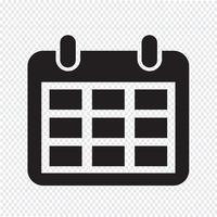 Icona del calendario simbolo segno