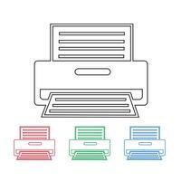 Printer pictogram symbool teken