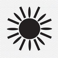 Symbol för teckensymbol för Sun Icon