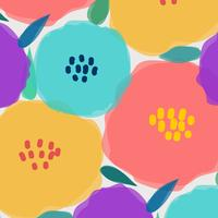 Pattern With Big Pastel Flower. Vector Illustration Background.