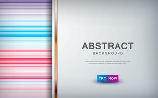 Abstract colored background with overlap layer and golden list decoration.