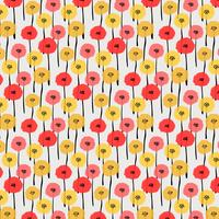 Pattern With Pastel Flower. Vector Illustration Background.