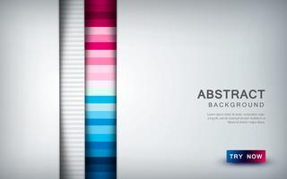 Abstract colored background with white overlap layer and texture shape decoration