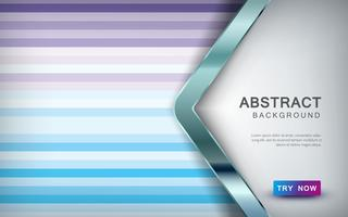 Abstract colored background with arrow overlap layer and silver list decoration.