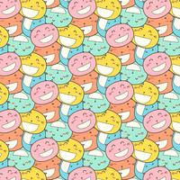 Cat Smile Pattern Background.
