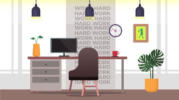 Minimalist Office Work Hard vector