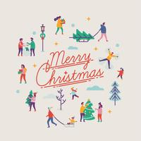 Merry Christmas design element vector